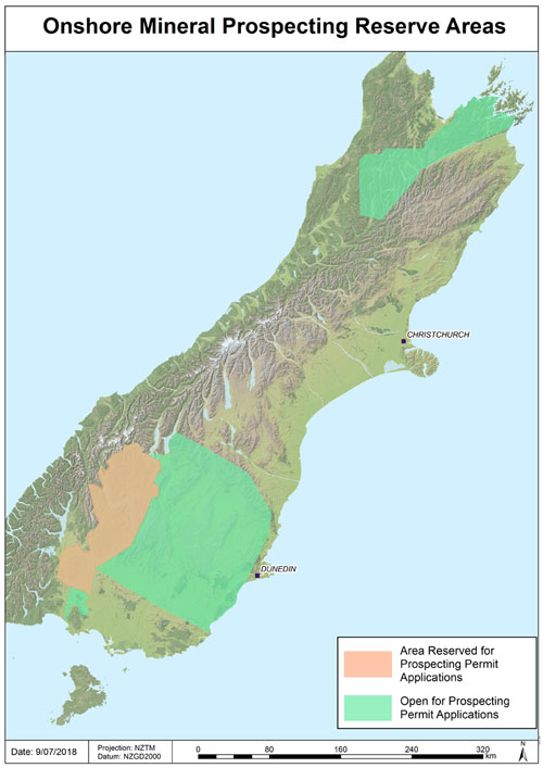 South Island Map