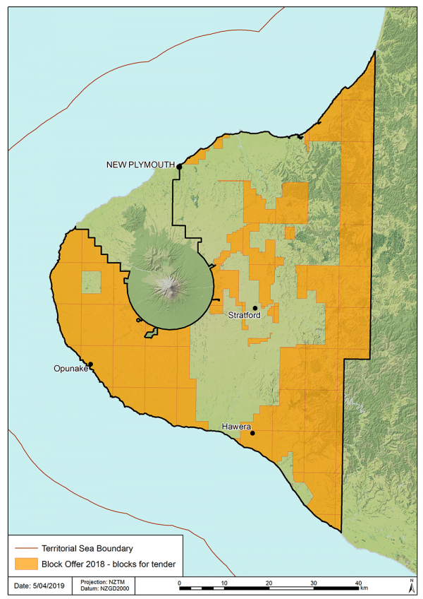 Block Offer 2018 – Release area map - New Zealand Petroleum and Minerals