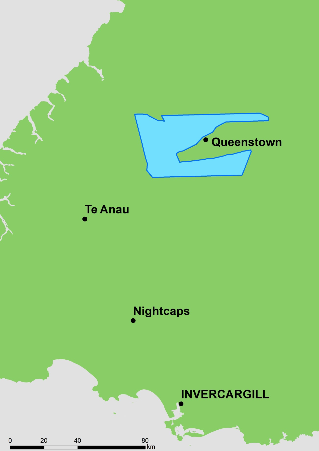 queenstown area aeromagnetic survey map